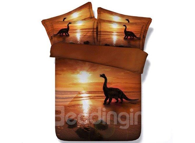 Gorgeous Dinosaur Digital Printing 4-Piece 3D Duvet Cover Sets