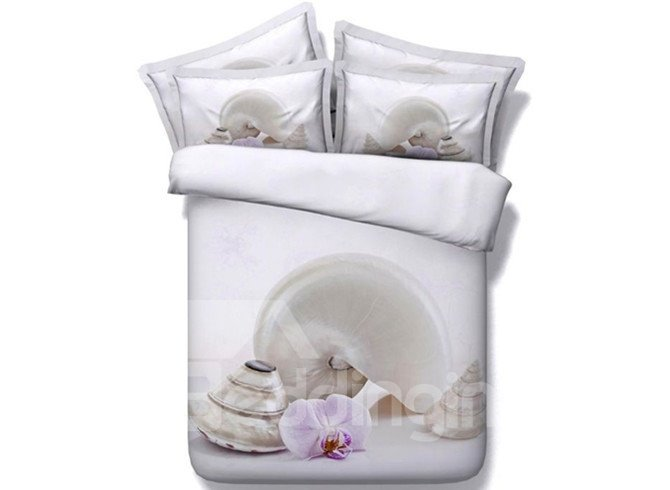 Excellent Phalaenopsis and Viviparidae Print 5-Piece Comforter Sets