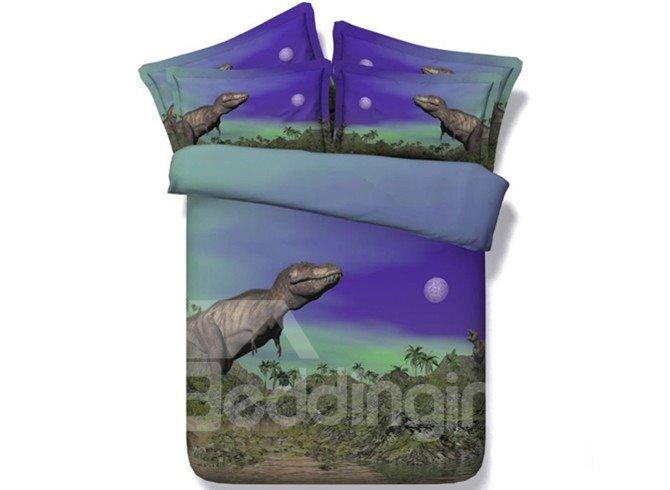 Amazing Dinosaur Digital Printing 5-Piece 3D Comforter Sets