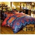 Chic Ethnic Pattern Print Staple Cotton 4-Piece Duvet Cover Sets