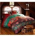 Fancy Ethnic Style Staple Cotton 4-Piece Duvet Cover Sets