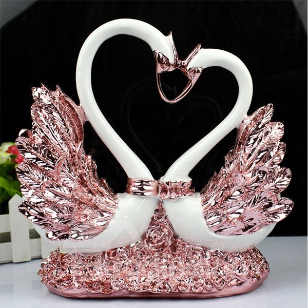 Lovely Romantic Resin Home Decorative Swan Desktop Decoration 12424898