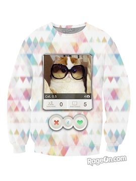 Long Sleeve Cat Photo Pattern 3D Painted Hoodie