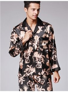 Luxury Floral Pattern Men's Special Cozy Pajamas