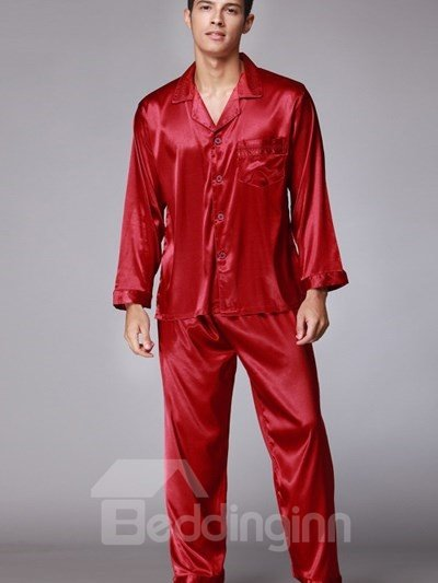 Luxurious Solid Style And Relaxed Comfortable Pajamas
