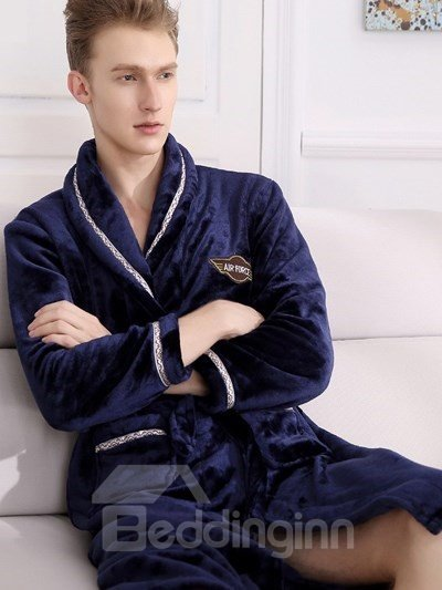 Luxury Fahion Style Super Warm Comfortable Material Men Pajamas
