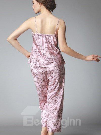 High Cost-Effective Sexy Luxury V-Pattern Three-Piece Pajamas