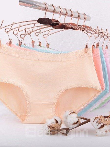 Five-Piece Colorful Cotton Material Super Flexible Sexy Underwear