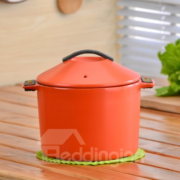 Wonderful Simple Style Ceramic Cookware Heat-resisting 2.8L Stockpot