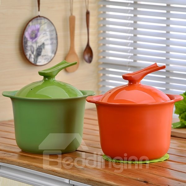 Multicolor Ceramic Cookware Heat-resisting With Hand Holder 4L Stockpot