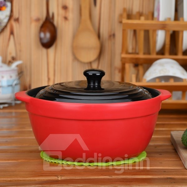 Amazing Ceramic Heat-resisting With Lid Multi-Environment Used 4.7L Stockpot