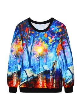 Stunning Long Sleeve Romantic Dating Pattern 3D Painted Hoodie