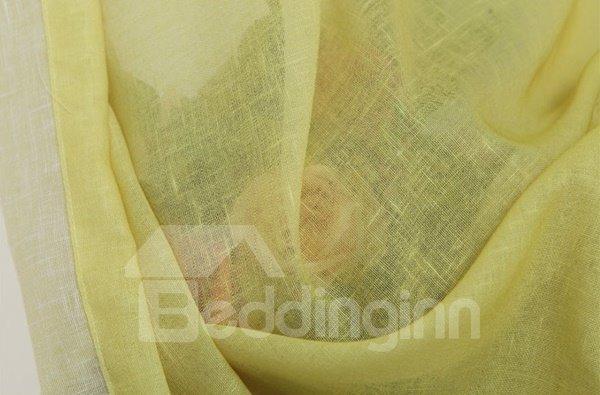 Gorgeous Lemon Yellow Gradient Color Custom Sheer Curtain