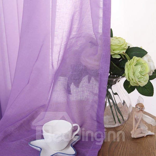 Gorgeous Purple Gradient Color Custom Sheer Curtain