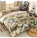 Charming Jungle Print 4-Piece Cotton Duvet Cover Sets