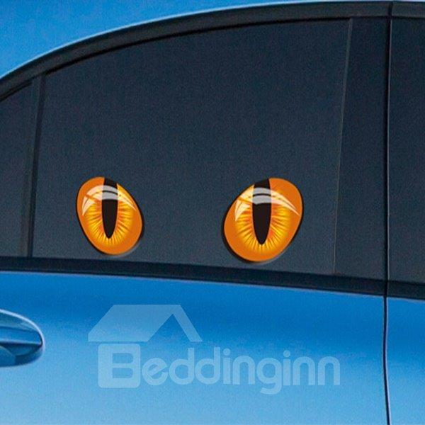 Cute And Interesting Eye Pattern Side Windows Decorative Car Sticker
