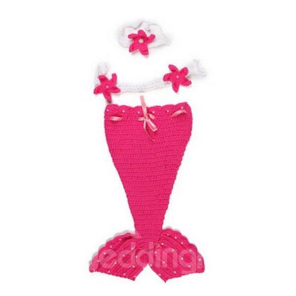 Cute Knitted Crochet Mermaid Shaped Baby Cloth
