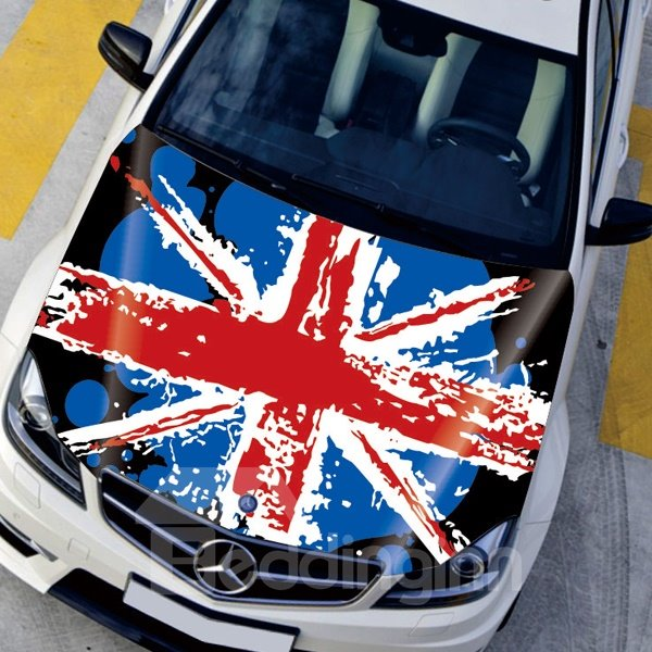 Union Jack Fashion Pop Style Front Creative Car Sticker