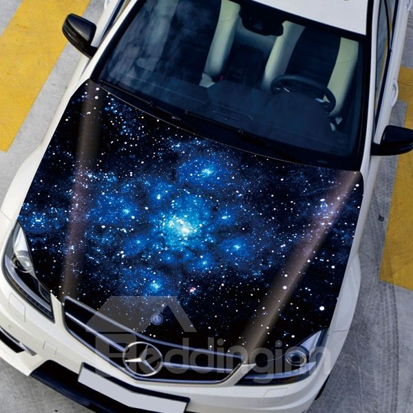 Beautiful Mysterious Star Sky Front Decorative Car Sticker