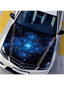 Beautiful Mysterious Star Sky Front Decorative Car Sticker