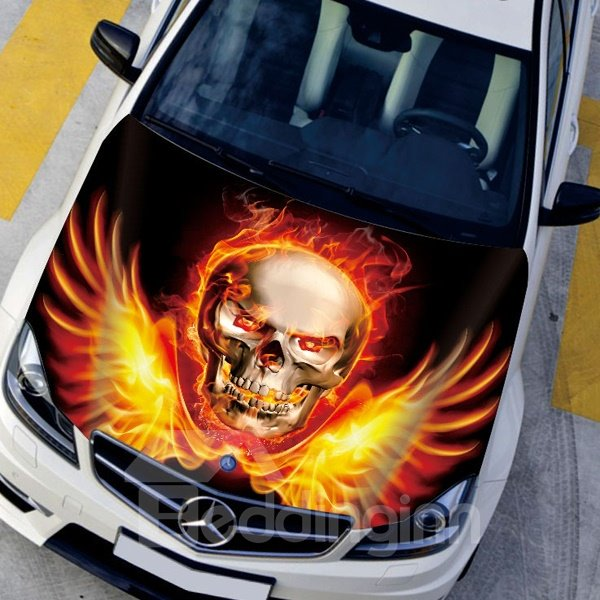Rise From The Ashes Evil Skull Modeling Car Sticker