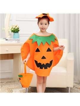 Cute Halloween Style Pumpkin Shape Children Costume