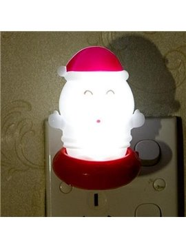 Super Cute Christmas Style Santa Claus Shape Light