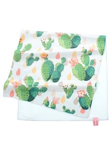 Pretty Watercolor Green Cactus Printing Face & Hand Towel