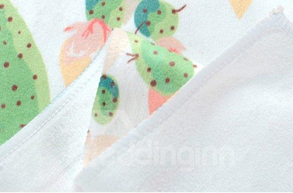 Pretty Watercolor Green Cactus Printing Face & Hand Towel