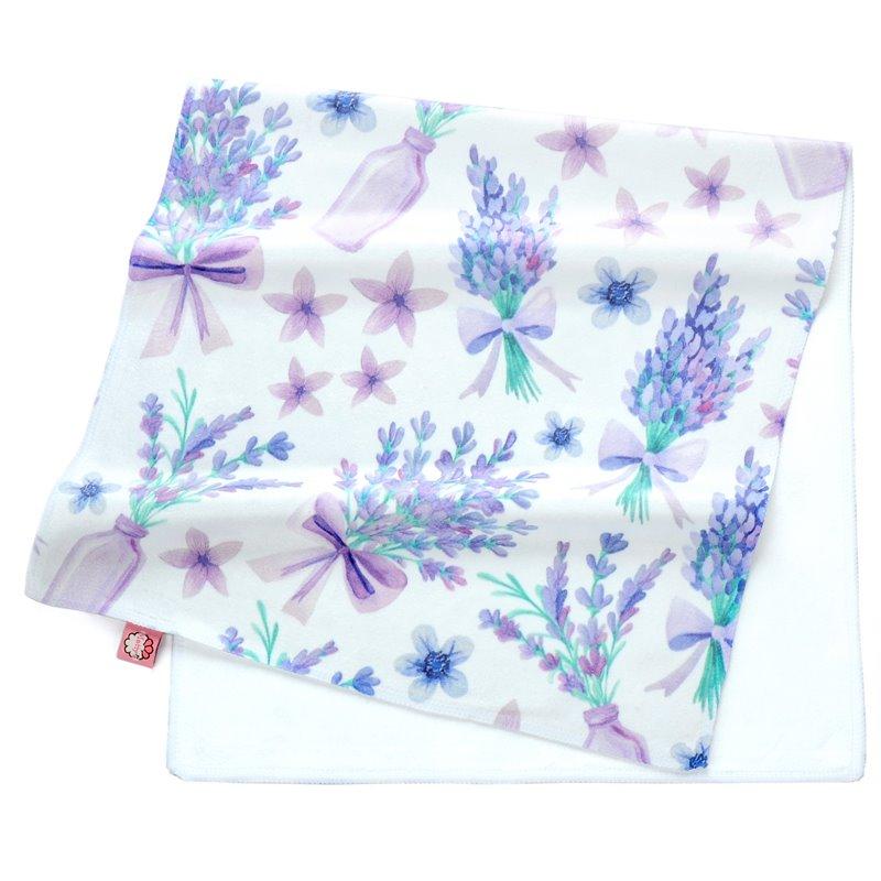 Romantic Purple Perfume Lavender Printing Face & Hand Towel