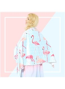 Watercolor Cute Flamingo Printing 2 Colored Bath Towel