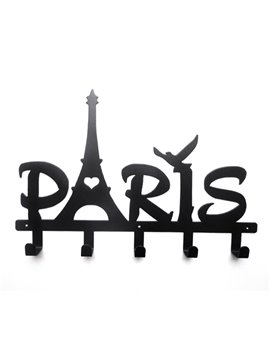 Paris Shaped Wall Mounted Bath Towel Hook with 5 Hooks