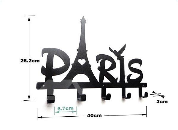 Paris Shaped Wall Mounted Bath Towel Hook with 5 Hooks