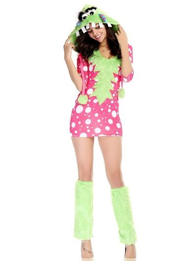 Lovely And Cute Pink Color Short Skirt Cosplay Costumes