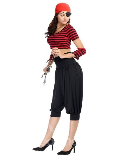 Sexy Pirate Cloth With Special Goggles Fashion Cosplay Costumes