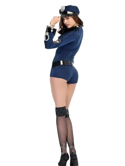 Sexy Policewoman With Stockings Temptation Attractive Cosplay Costumes