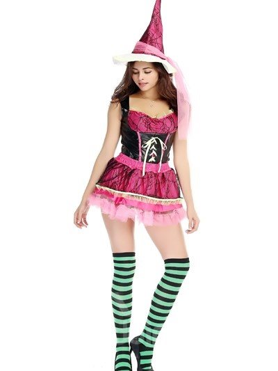 Lovely Pink Skirt With Bright Green Socks Popular Cosplay Costumes