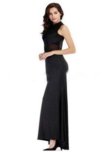 Elegant Black Long Skirt With Good Flexibility Hot Cosplay Costumes