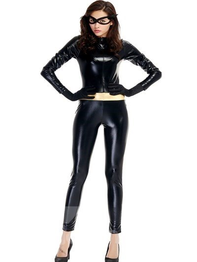 Sexy Catwoman Modeling Design Attractive Tight Cosplay Costumes