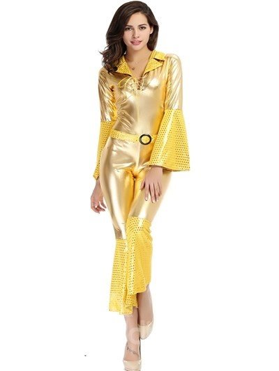 Bright Gold Color Recoil Style Wtih Special Cuff Design Cosplay Costumes