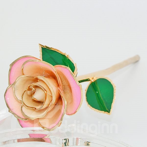 Romantic Forever Love Never Fade Pink 24K Gold Rose