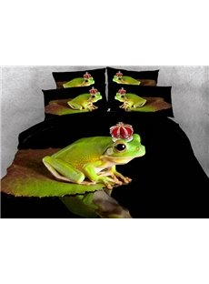 Lovely Frog Digital Printing 4-Piece Duvet Cover Sets