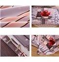 Adorable Christmas Rabbit Print 4-Piece Duvet Cover Sets