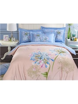 Beautiful Hyacinth 3D Print 4-Piece Cotton Duvet Cover Sets