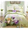 Lifelike Charming Iris 3D Print 4-Piece Cotton Duvet Cover Sets