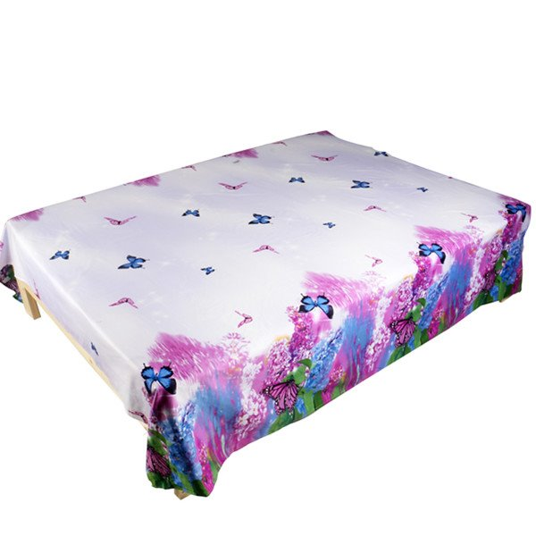 Butterfly and Lilac Print Cotton Flat Sheet