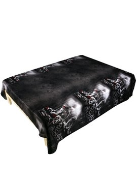 Fashion Leopard Car Print Cotton Flat Sheet