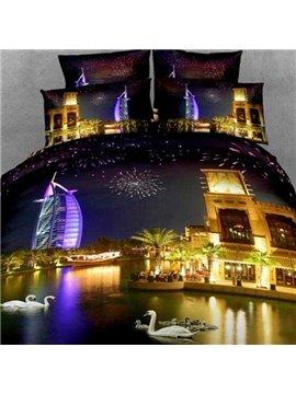 Beautiful Burj Al Arab Hotel Print 3D Fitted Sheet
