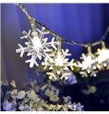 White Christmas Indoor and Outdoor Decoration 32.8ft Snowflake Shape LED String Lights