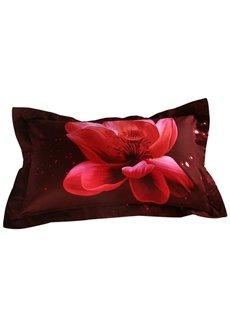 Gorgeous Pink Lotus Print 2-Piece Pillow Cases